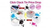 Click Clack Tin Price Drop from Snap Products